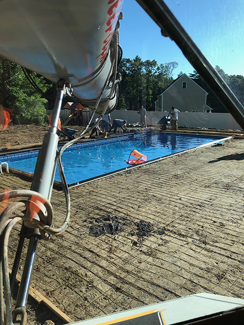 Cement Pour for Pool Deck