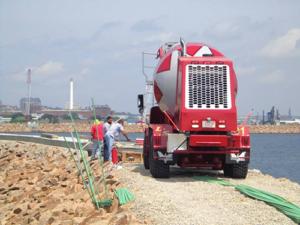 Cement on New Bedford Hurricane Dike